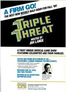Triplee Threat 1988 ad