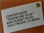 Contestants Password Plus plug