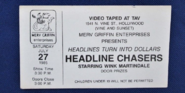 Headline Chasers (July 27 ,1985)