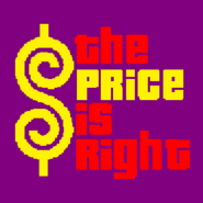 The Price is Right Logo with Trimmed Letters in Purple Background