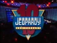 Jeopardy! 10th Anniversary title card