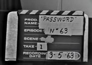 Password Production Slate 1963