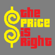 The Price is Right Logo with Trimmed Letters in Dark Gray Background