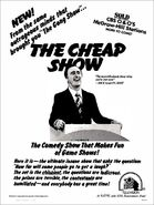 The Cheap Show ad