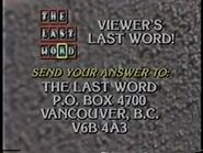 Viewer's Last Word Address