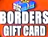 Borders Gift Card 2003