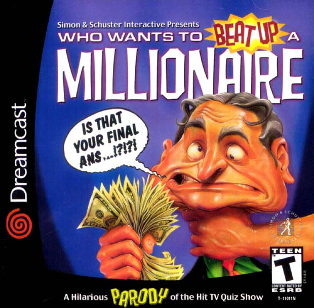 Superior Who Wants To Beat Up A Millionaire Front Cover (Sega Dreamcast)