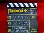 Password Plus Production Slate 202