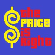The Price is Right Logo with Trimmed Letters in Indigo Background
