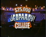 Jeopardy! $25,000 College Championship