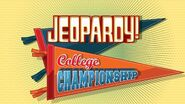 Jeopardy! Season 27 College Championship Title Card