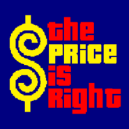 The Price is Right Logo with Trimmed Letters in Navy Blue Background