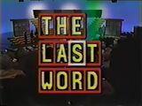 The Last Word Pilot