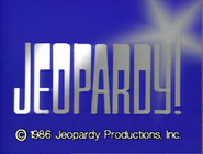 Jeopardy! 1986 copyright card