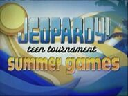Jeopardy! Season 23 Teen Tournament Summer Games Title Card