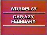 Wordplay Car-Azy February