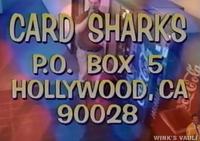 Card Sharks 2000 Pilot plug