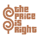 The Price is Right Logo with Trimmed Letters in Light Brown
