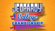 Jeopardy! Season 30 College Championship Title Card