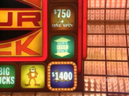 Move One Space to $750 +One Spin or $1400