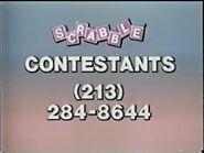 Scrabble Contestant Plug 1986