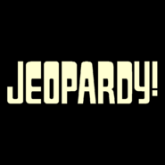 Jeopardy! Logo In Creme