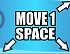 Cyan Move 1 Space (Up-Right, Down-Left, and Down-Right)