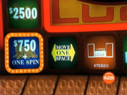 Move One Space to $750 + One Spin