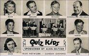 Quiz kids 1940s card