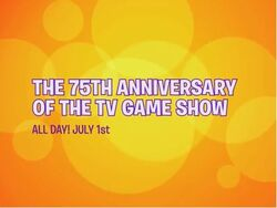 The 75th Anniversary of the TV Game Show All Day July 1st