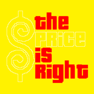 The Price is Right Logo with Trimmed Letters in Yellow Background