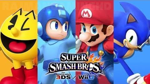 Super Smash Bros Wii U - Pac-Man vs Mega Man vs Mario vs Sonic Gameplay 1080p TRUE-HD QUALITY