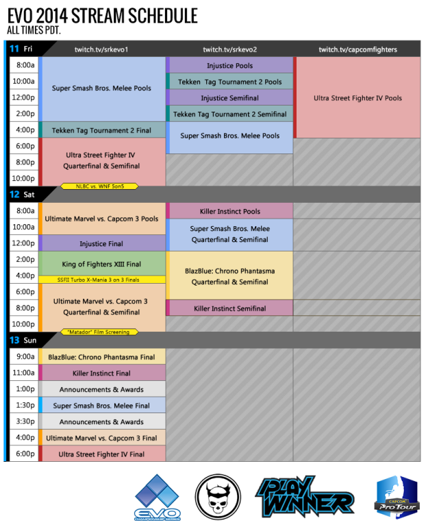 Evo2014 stream schedule v3