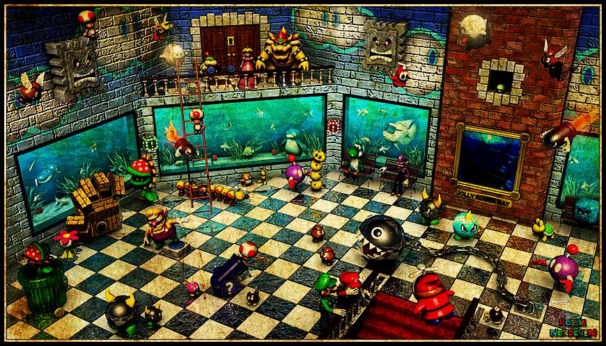 Super mario 64 jolly roger bay room by robbienordgren-d4onbrg