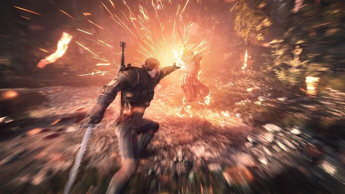 Witcher-3-igni-sign-magic-attack-gameplay-screenshot