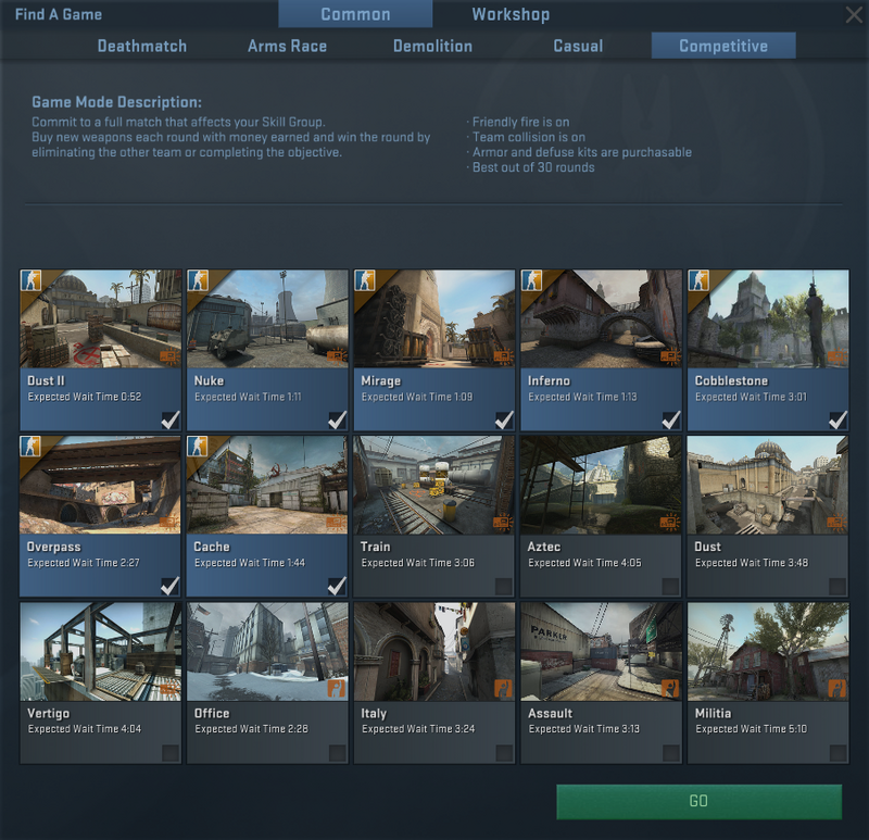 Cs go competitive matchmaking
