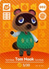 Amiibo AC Tom Nook card