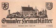 Titel Gmünder Heimatblätter