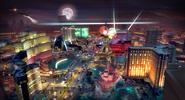Vista aérra de Las Vegas