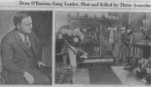 Dion O'Banion Killed