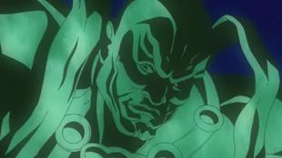Green buddha alien