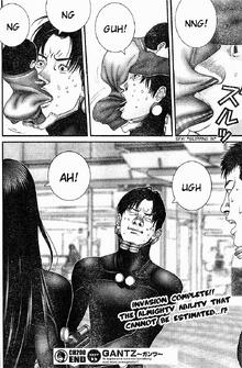 Gantz shapeshifting oni Takeshi