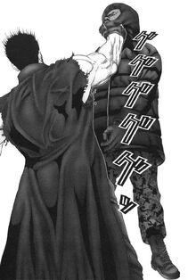 Gantz Daizaemon chokes shion