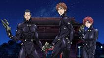 Gantz anime Kato, Kurono, and Kishimoto