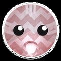Pink Zigzag Cat