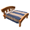 Light Wood Double Bed