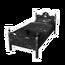 Black Galaxy Single Bed