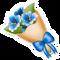Blue Cosmos Bouquet