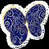 Blue Swirl Wings