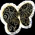 Black Swirl Wings